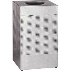 United Receptacle Silhouette 29 gallon silver metallic trash can with liner found on Bargain Bro from Kitchen Source for $304.83