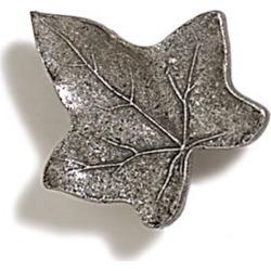 Modern Objects Ivy Leaf Knob, 1 inch Diameter, Polished Pewter