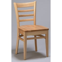 Regal Wood European Wood Ladderback Chair with Wood Seat