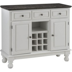 Mix and Match Premium Large Buffet, Gray/Salmon Granite Top on White Server found on Bargain Bro from Kitchen Source for USD $430.15
