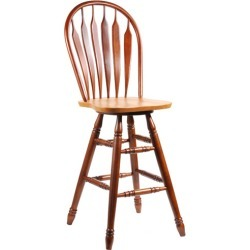 International Concepts 24 Seat Windsor Swivel Bar Stool, Cinnamon/Espresso found on Bargain Bro from Kitchen Source for USD $118.65
