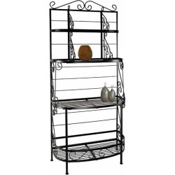 Grace 36 inch French Bow Style Bakers Rack, No Tips, Antique Bronze found on Bargain Bro Philippines from Kitchen Source for $844.68