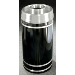 Glaro Monte Carlo Series Donut Top Ash/Trash Receptacle in Espresso Brown w/ Aluminum Bands, 15 inch Dia x 33 inch H, 16 Gal, Sh found on Bargain Bro from Kitchen Source for USD $365.60