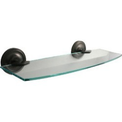 Allied Brass - 24 Prestige Regal Glass Shelf, Standard found on Bargain Bro India from Kitchen Source for $103.99