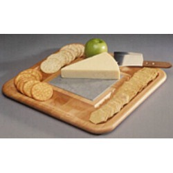 JK Adams Wood Cheese & Cracker Tray with Slate Trivet found on Bargain Bro Philippines from Kitchen Source for $67.00