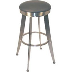 Holland Swivel Laser 30 inch Bar Stool with Vinyl Seat