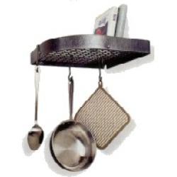 Enclume Hammered Steel Large Corner Shelf Kitchen Pot Rack