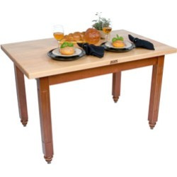 John Boos 60 Kitchen Table with Maple Top