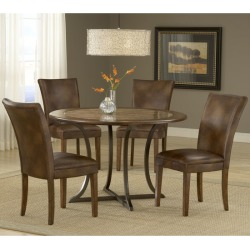 Hillsdale Valhalla 5-Piece Dining Set, Brown found on Bargain Bro Philippines from Kitchen Source for $789.27