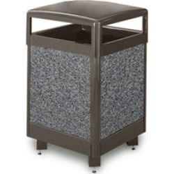 United Receptacle Aspen grey  trash can 48 gallon capacity and leak proof liner found on Bargain Bro India from Kitchen Source for $974.37