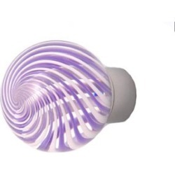 Out of the blue Round knob, Spiral Purple & White Knobs 1? Dia., Polished Brass found on Bargain Bro India from Kitchen Source for $105.67