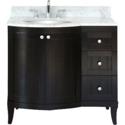 Empire 36 Malibu 100 Vanity, Bowl On Left, Dark Mahogany found on Bargain Bro Philippines from Kitchen Source for $1372.00