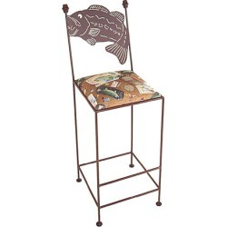 Grace Bass-Backed Bar Stool with Fabric Seat and Arms 30 inch found on Bargain Bro India from Kitchen Source for $250.04