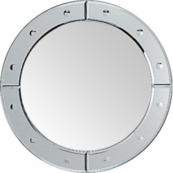 Whitehaus New Generation Large Decorative Round Mirror with 3 inch Decorative Trim found on Bargain Bro Philippines from Kitchen Source for $629.73