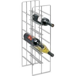 Blomus 12 Bottle Steel Wine Rack, 7-1/2 W x 8-7/10 D x 26 H, Matte Nickel Plated