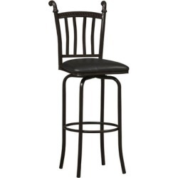 Covington - Mission Horn Bar Stool, 17 1/4 W x 19 1/4 D x 45 1/2 H, Black found on Bargain Bro Philippines from Kitchen Source for $73.21