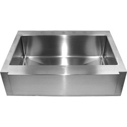 Empire 16-Guage Everest Single Bowl Farm Sink, 36 W found on Bargain Bro Philippines from Kitchen Source for $1344.00