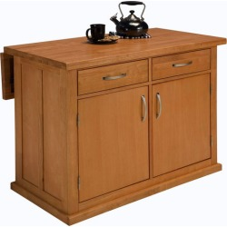 Home Styles Central Park Kitchen Island, Natural Finish
