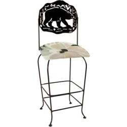 Grace Collection Lodge Theme Bear Silhouette 30 Seat Height Swivel Bar Stool found on Bargain Bro India from Kitchen Source for $240.59