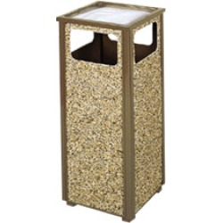 United Receptacle Aspen 12 gallon trash can with leak proof liner and sand top found on Bargain Bro from Kitchen Source for $388.63