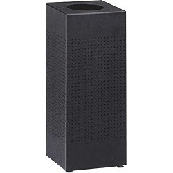 United Receptacle Silhouette 16 gallon black trash can with liner found on Bargain Bro from Kitchen Source for $307.39
