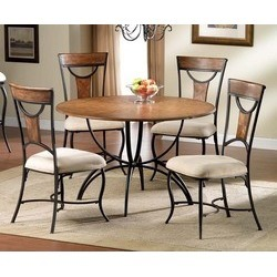 Hillsdale - Pacifico 5-Piece Dining Set, Black w/Copper Highlights found on Bargain Bro India from Kitchen Source for $749.99