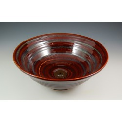 Vermont Art Sinks Florence Handthrown Stoneware Sink, 13inch W x 4-1/2inch H, Iron White, Shown in Merlot found on Bargain Bro India from Kitchen Source for $525.30