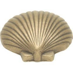 Belwith Keeler Treasures Collection Knob Fan Shell, Vibra Pewter Finish, 1-1/2 inch diameter