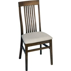 Furniture Imports High Slat Back Walnut Chair with Grade 5 Fabric Seat found on Bargain Bro Philippines from Kitchen Source for $186.66