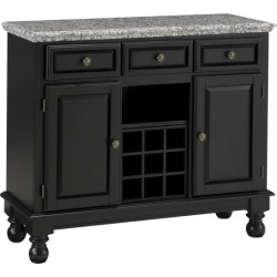 Mix and Match Premium Large Buffet, Gray Granite Top on Black Server