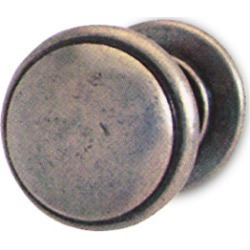 H?fele Traditional Brass/Zinc Knob, 30 mm dia., 25 mm D, Pewter