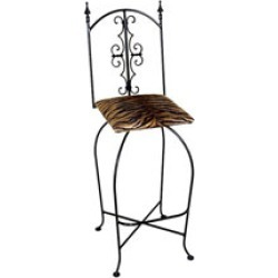 Grace 30 Gothic Iron Bar Stool in a Variety of Finishes found on Bargain Bro India from Kitchen Source for $240.59