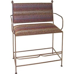 Grace Spectator Bench UPH Back/Arms, 40in, Guadalupe Fabric, Burnished Copper Finish found on Bargain Bro Philippines from Kitchen Source for $648.22