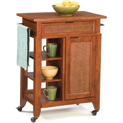 Home Styles Jamaican Bay Small Kitchen Cart