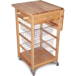 Catskill Craftsmen Basket Kitchen Cart w/ Drop Leaf