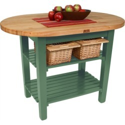 John Boos Eliptical C-Table, 72W, Basil Green, No shelf found on Bargain Bro Philippines from Kitchen Source for $899.00