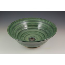 Vermont Art Sinks Florence Handthrown Stoneware Sink, 15-1/2inch W x 5inch H, Iron White, Shown in Seaweed found on Bargain Bro India from Kitchen Source for $710.70