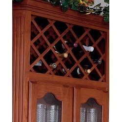National Products wine lattice with 18 full bottles, Cherry found on Bargain Bro Philippines from Kitchen Source for $122.71
