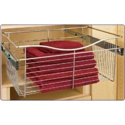 Rev-A-Shelf Pull-Out Wire Baskets in Satin Nickel 24W x 14D x 7H found on Bargain Bro Philippines from Kitchen Source for $59.68