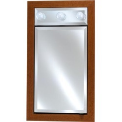 Afina Signature Collection 17Wx40H Group E Single Door Recessed/Surface Medicine Cabinet with Contemporary Lights found on Bargain Bro India from Kitchen Source for $1150.88