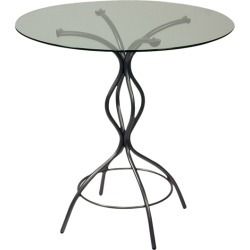 Trica Carol Counter Height Table with Glass Top, 36 H, 42 Dia. Glass Top, Copper found on Bargain Bro Philippines from Kitchen Source for $298.00