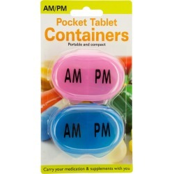 AM/PM Pocket Tablet Containers Set