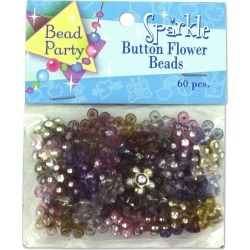 Sparkle Button Flower Beads found on Bargain Bro from koleimports.com for $0.39