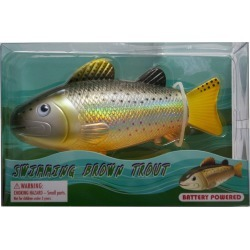 Battery Operated Brown Trout Swimming Fish