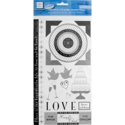 Wedding Cardstock Stickers found on Bargain Bro India from koleimports.com for $0.49