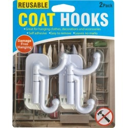 Reusable Coat Hooks Set