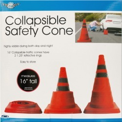 Collapsible Traffic Safety Cone with Reflective Rings found on Bargain Bro India from koleimports.com for $6.49