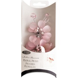 Frosted Pink Bouquet Floral Picks