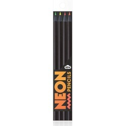 4 Pack Neon Colored Pencils