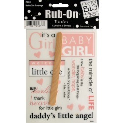 Baby Girl Sayings Rub-On Transfers found on Bargain Bro from koleimports.com for $0.39